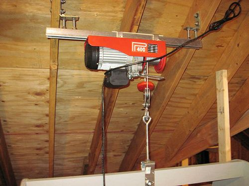 Best 25 attic lift ideas on pinterest garage hoist for Diy home elevator plans