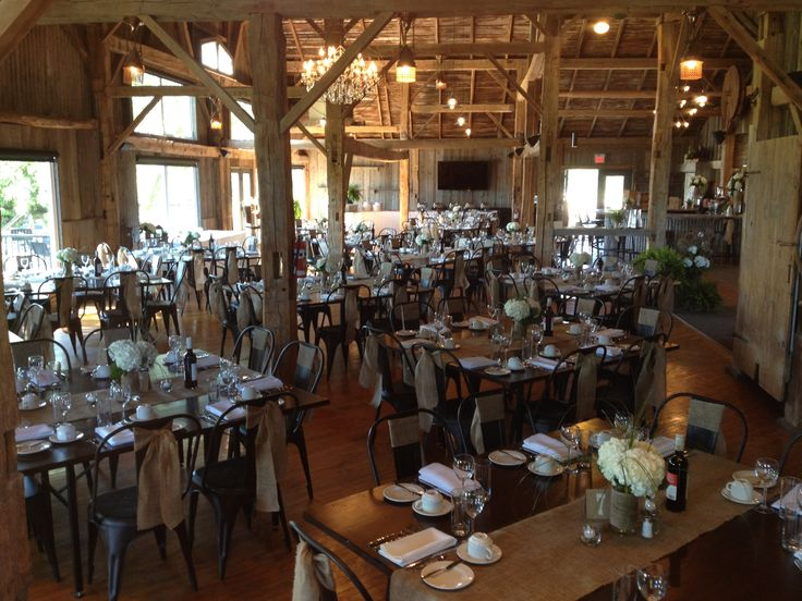 Table Set up at The Barn- Rustic Country Wedding