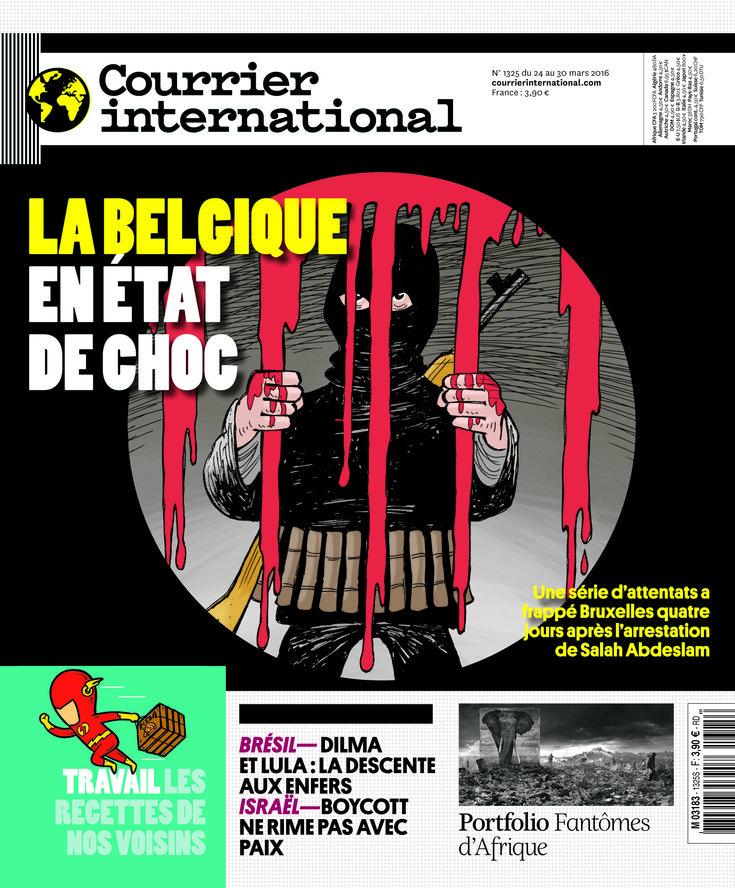 Le titre de une. Hebdo n° 1325 La Belgique en état de
