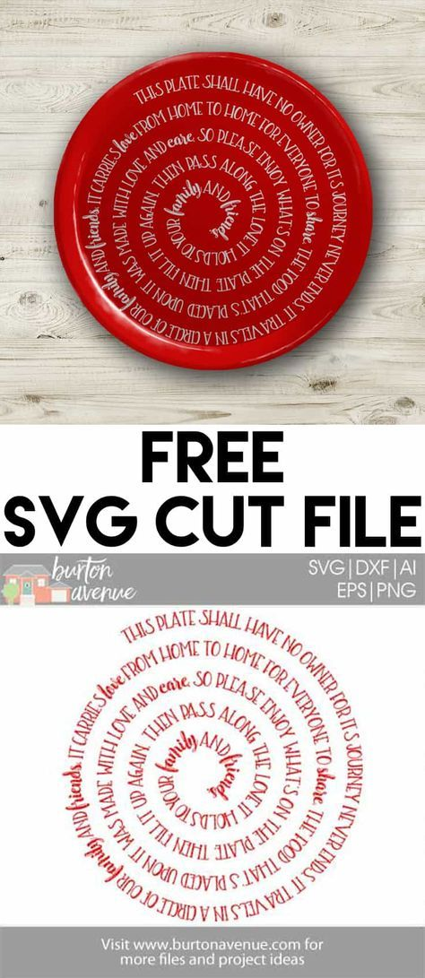 The Giving Plate Poem: Free SVG files for Silhouette and Cricut