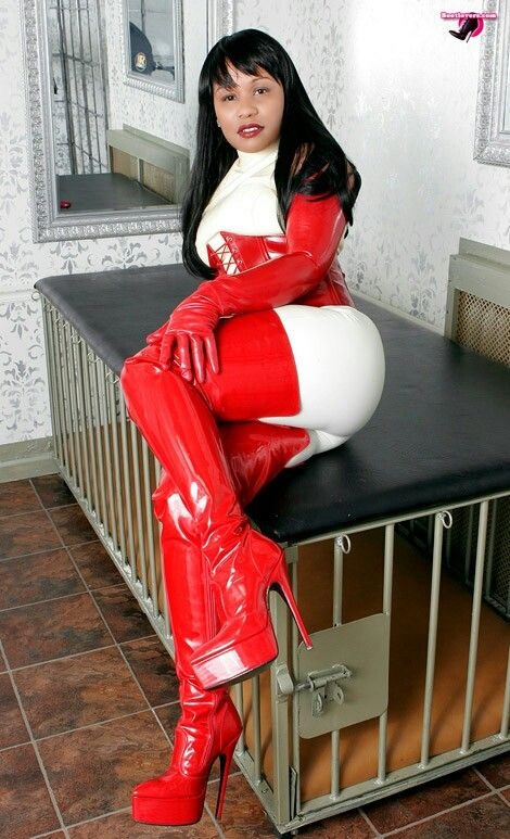 The lovely Mistress Ariana in New York in custom made red