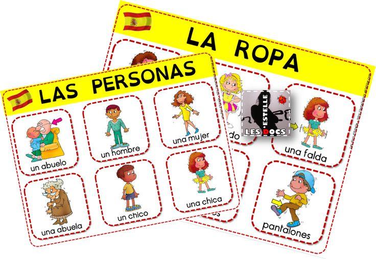 Espagnol : un imagier, des flashcards, un bingo (la ropa, las personas) - Les docs d'Estelle