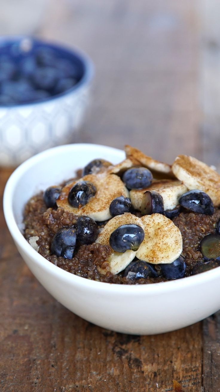 Mornings get a little brighter with maple and chocolate added to this superfood bowl.