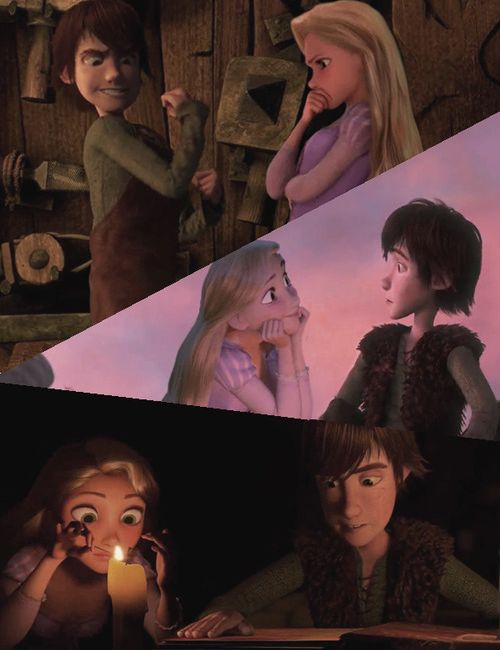 Repunzel seems like the kind of friend that would help Hiccup get all dressed up and well mannered for a date. I think they'd be good buds