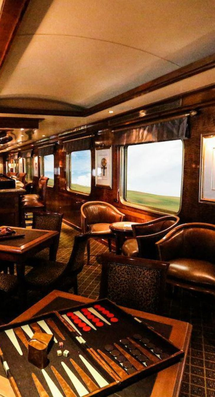 Elegant Lounges | The Blue Train, South Africa. This train is phenomenal, the trip is so quiet and cushioned, u don't even know you are on a train. The dining is superb, you just cna't fault it. Its like being on Concorde you have to at least do it once in your life! KMW