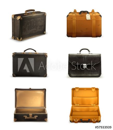Old suitcase set