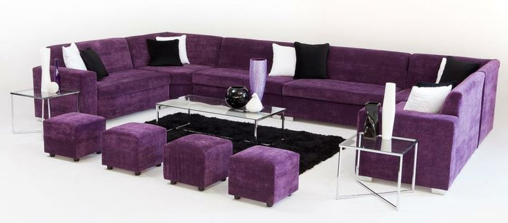 Purple, Black and White Lounge Pod