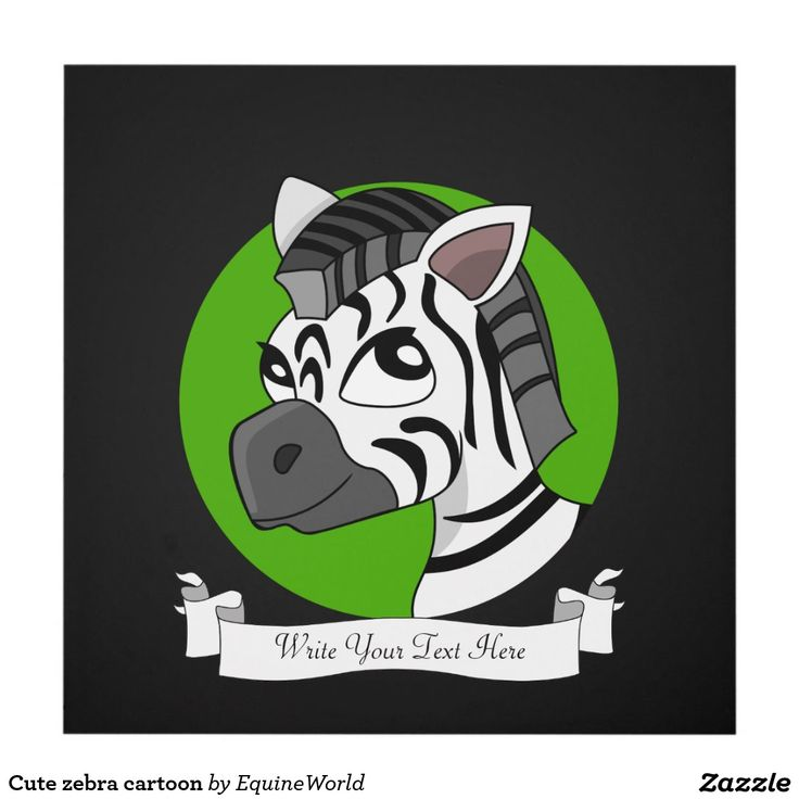 Cute zebra cartoon wood wall art