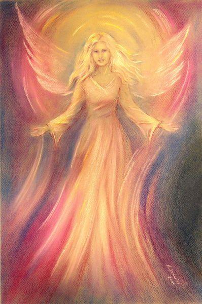 'Engelbild Licht und Liebe' by Marita Zacharias on artflakes.com as poster or art print $16.63