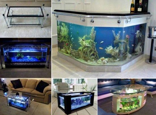 25+ bästa fish tank coffee table idéerna på pinterest | akvarier