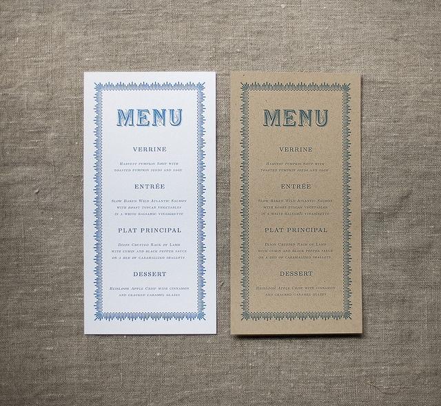 Menu Card Design Layout