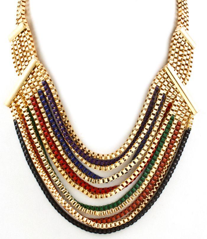 Gold Multi-Strand Necklace AU$24.95