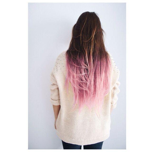 pastel pink ombre hair || zazumi.com