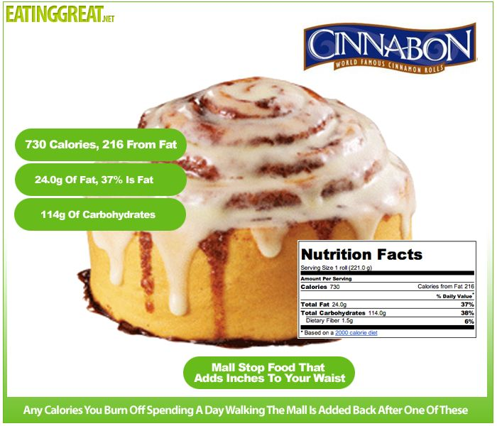 How Many Calories In A Cinnabon Health And Fitness