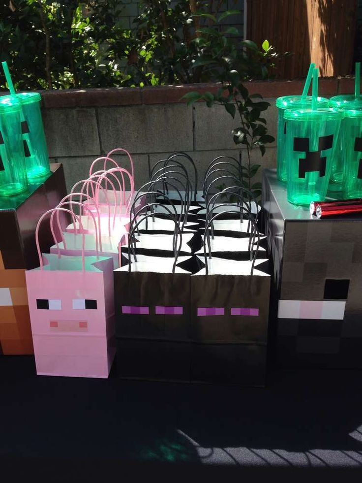 Minecraft Birthday Party Ideas | Photo 16 of 34 | Catch My Party