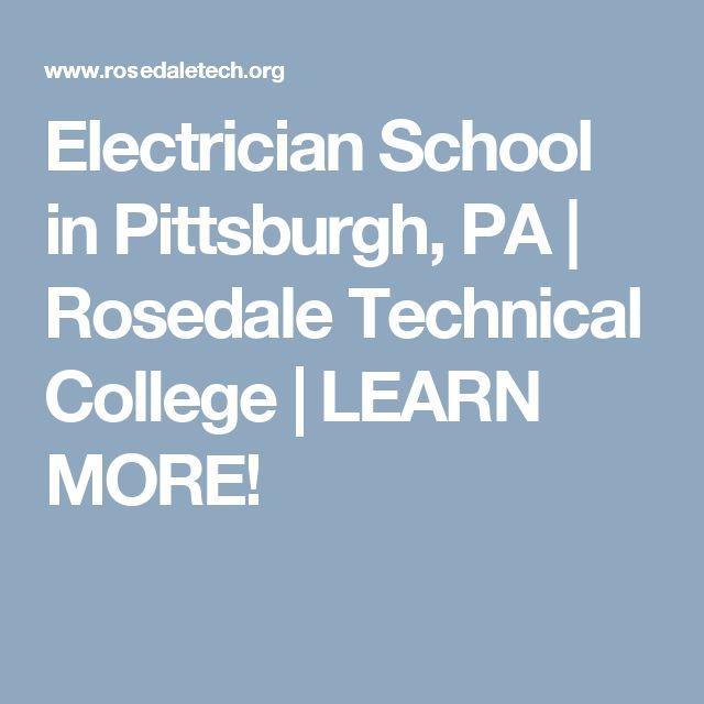 Electrician School in Pittsburgh, PA | Rosedale Technical College | LEARN MORE!