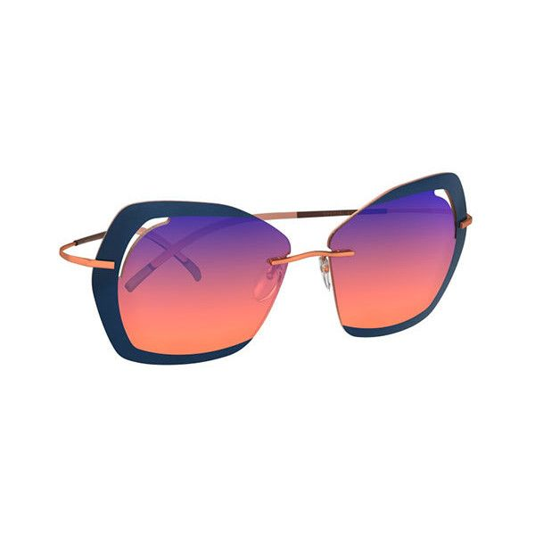 Silhouette Perret Schaad 9910 2540 Sunglasses (820.850 COP) ❤ liked on Polyvore featuring accessories, eyewear, sunglasses, rose gold, silhouette sunglasses, gradient sunglasses, wayfarer sunglasses, wayfarer style glasses and silhouette eyewear