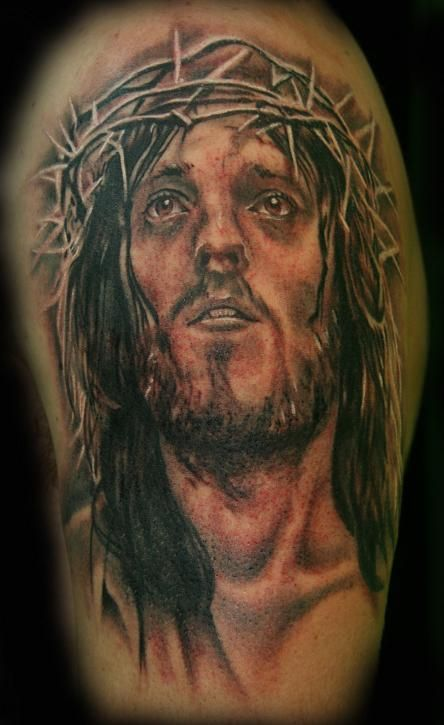 26 best jesus crown tattoos for men images on pinterest for Tattoos of black jesus