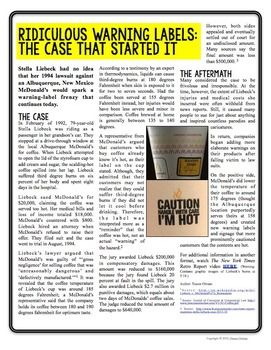 Nonfiction cause & effect article & activities