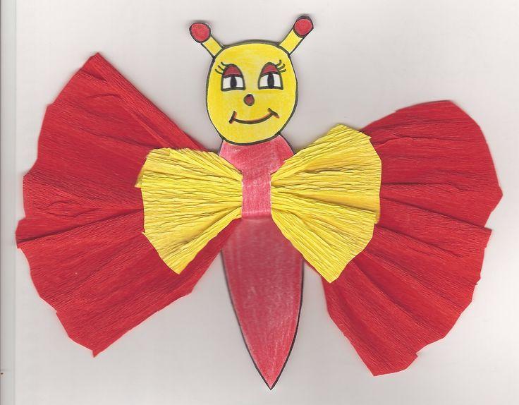 mariposa papel charol