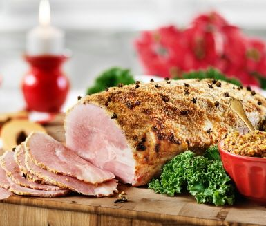Julskinka med senapsgriljering - Grilled ham with mustard coating