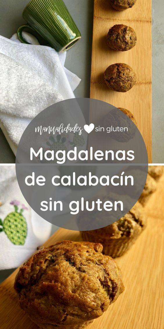 Magdalenas Dulces De Calabacin Sin Gluten Receta Magdalenas De
