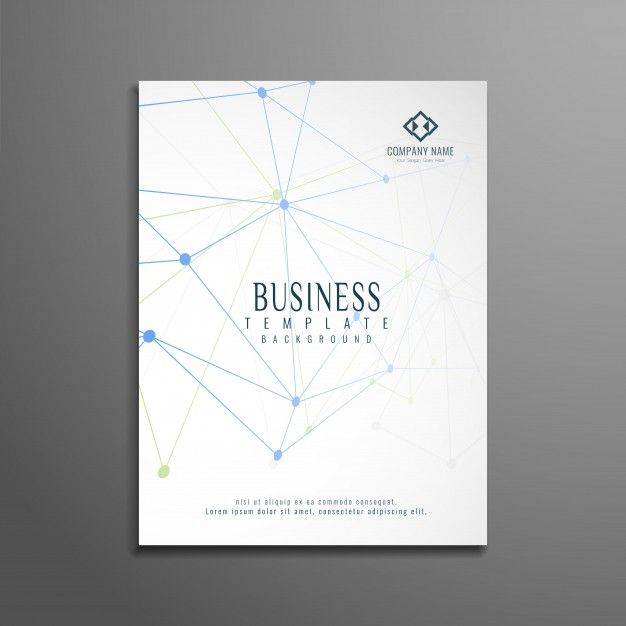 ai elegant technological business brochure design vector free