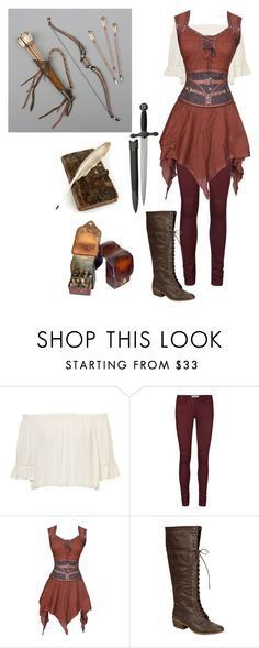 """""""medieval archer"""" by lighterbee ❤ liked on Polyvore featuring Vero Moda"""