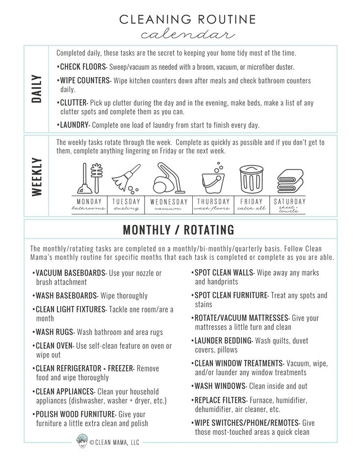 Simplify your cleaning routine and life with help from this FREE printable and manageable routine.