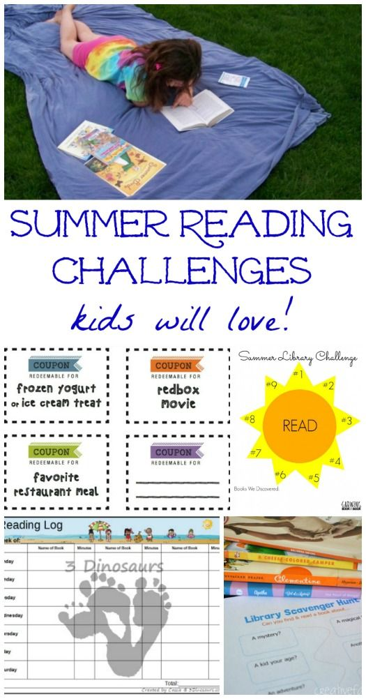 Free printable summer reading logs that will inspire kids to read!