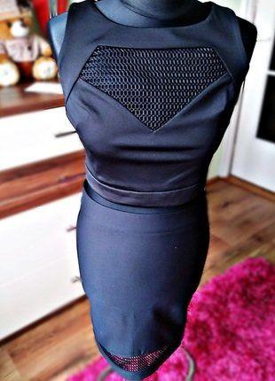 Kup mój przedmiot na #vintedpl http://www.vinted.pl/damska-odziez/sukienki-wieczorowe/17438725-nowa-czarna-2-czesciowa-dopasowana-sukienka-top-spodnica-olowkowa-roz-s