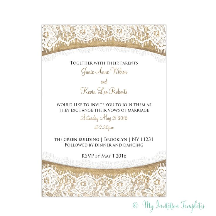 11 best Wedding Invitation Templates images on Pinterest Wedding - dinner invitations templates