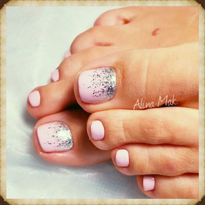 55 Trendy Easy Toe Nail Design You Ll Love This Page 2 Of 9 In 2020 Glitter Toe Nails Summer Toe Nails Toe Nail Color
