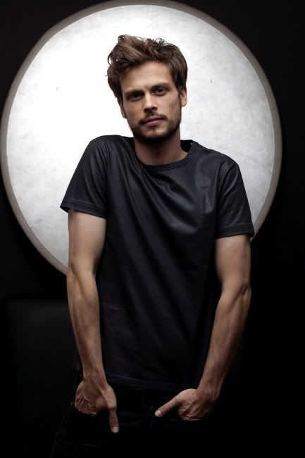 Mathew Gray Gubler, look at him, just look at how gorgeous he is and every time I watch him I'm speechless.
