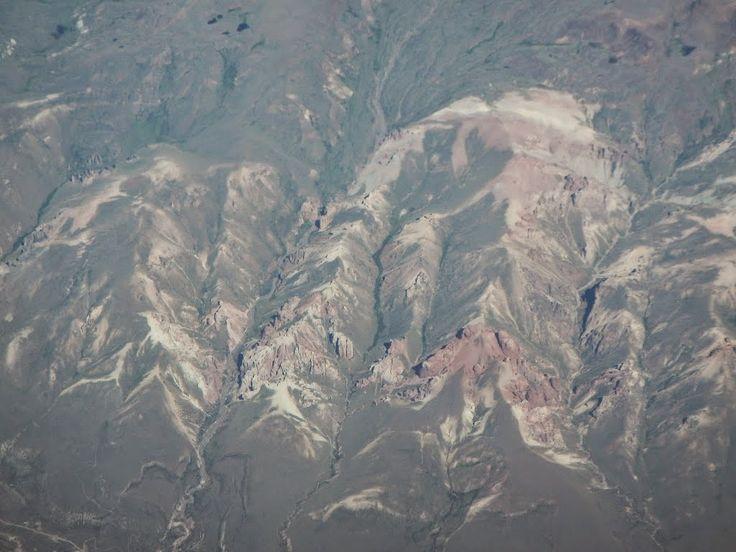 Vista aérea del Valle de la Luna de Chile Chico