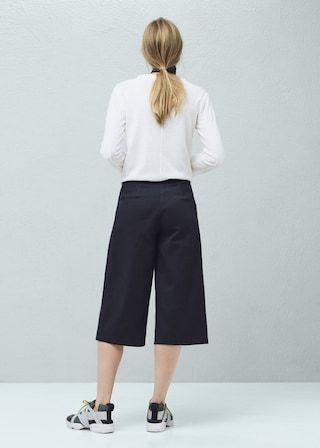Bawełniane spodnie crop