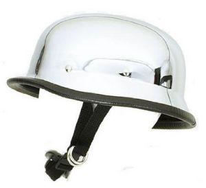 3 Chrome German Motorcycle Helmet