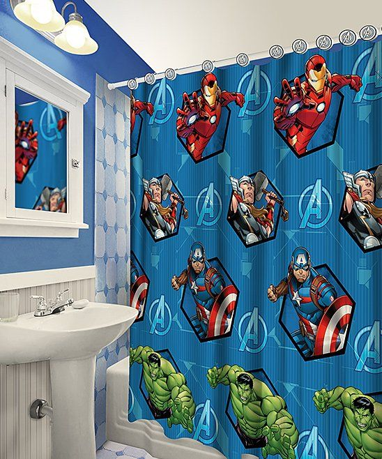 Take A Look At This Avengers Shower Curtain Today Bathroom Decor Fabric Shower Curtains Diy Shower Curtain