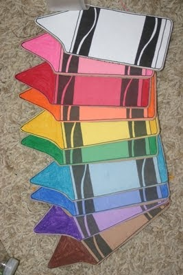 """Lines Across"": Crayon Flash Cards"