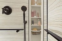 Luxury Shower Wall Panels Accessories and Storage System - Innovate Building Solutions