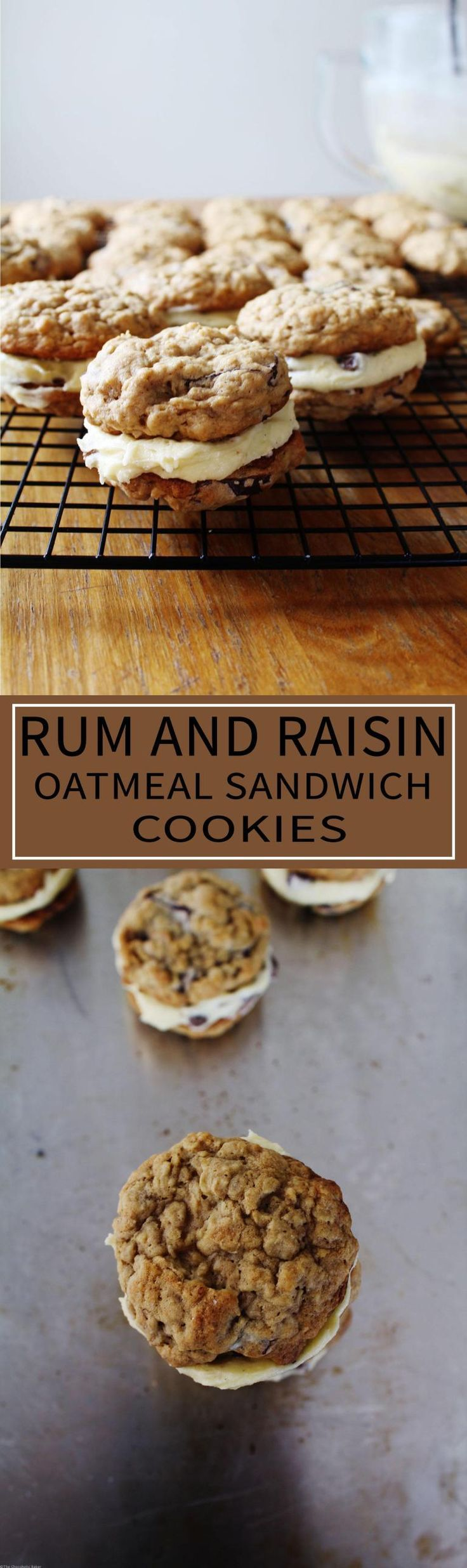 Rum and Raisin Oatmeal Sandwich Cookies - A mix and match between the ...