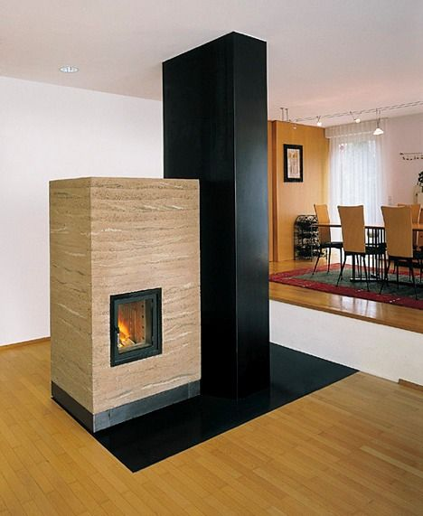 rammed earth stoves: long on thermal, wide on radiating