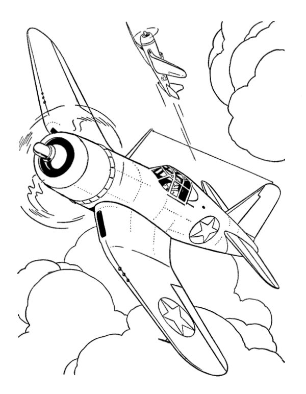 Coloring Pages Disney Planes Fighter Plane Jet Bravo
