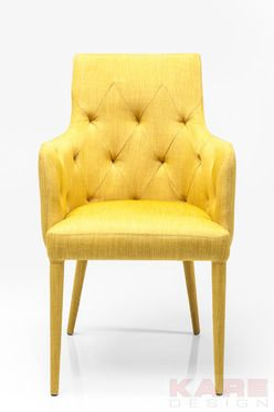 Stuhl mit armlehne gamble yellow sunshine kare design moebel gelb sommer wien austria - Yellow mobel katalog ...