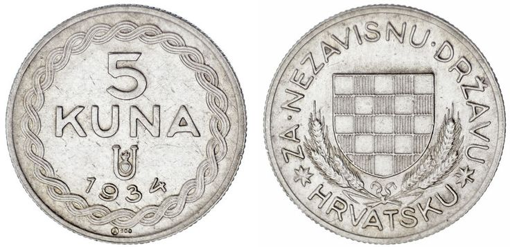 5 SILVER KUNA / PLATA. CROATIA / CROACIA.1934. XF+/EBC+. SCARCE / ESCASA.