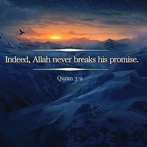 ❤️indeed Allah never breaks his promise.