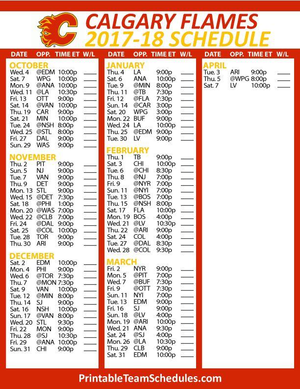 nhl schedule 2017 18 pdf