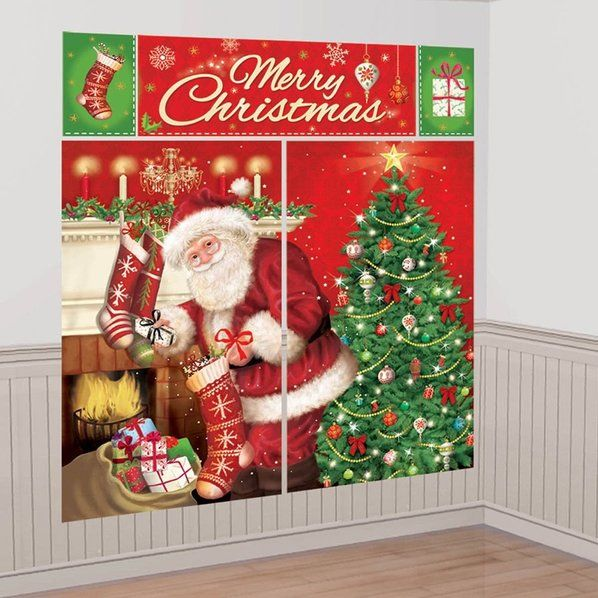 Check out Magical Christmas Scene Setter Wall Decorating Kit - Customized Party Supplies from Birthday In A Box