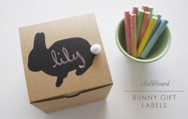 Chalkboard contact paper labels