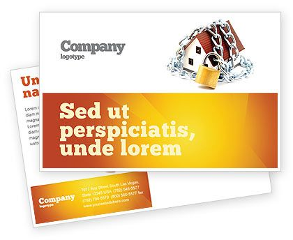 This is a Postcard Template for presentations on home security systems, protection, etc. http://www.poweredtemplate.com/brochure-templates/construction/postcards/03203/0/index.html